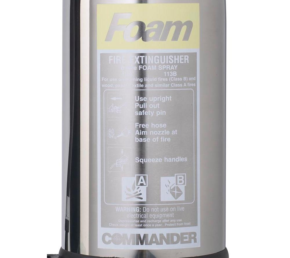 6-Litre-Stainless-Steel-foam-fire-extinguisher-label