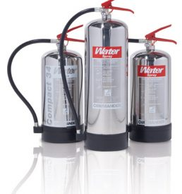 Chrome/ Stainless Steel Finish Fire Extinguishers