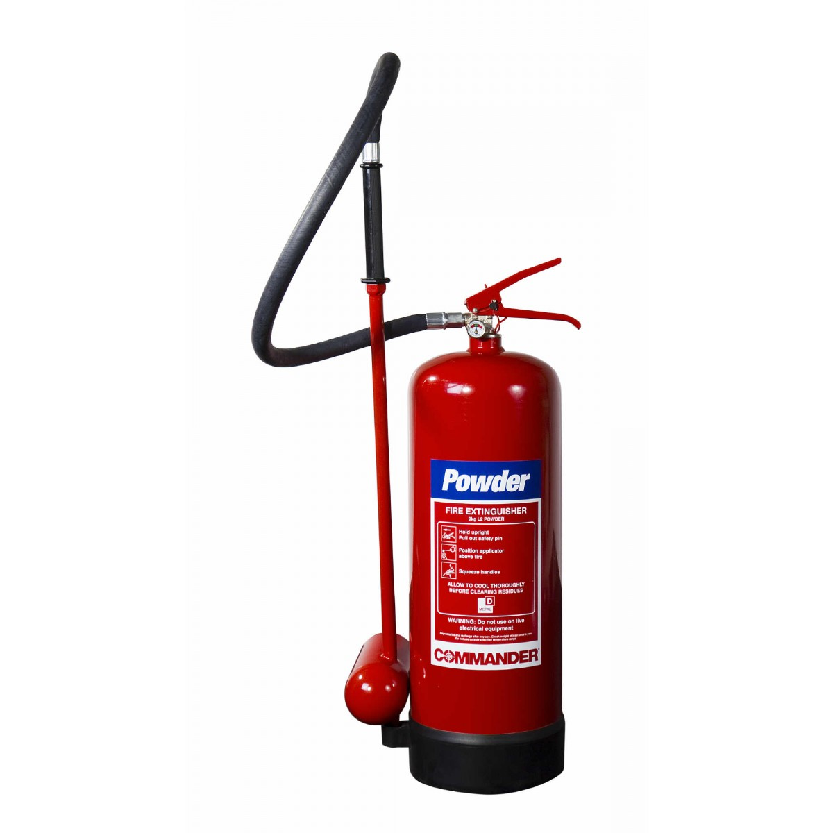 special powder fire extinguisher for metal and lithium fires