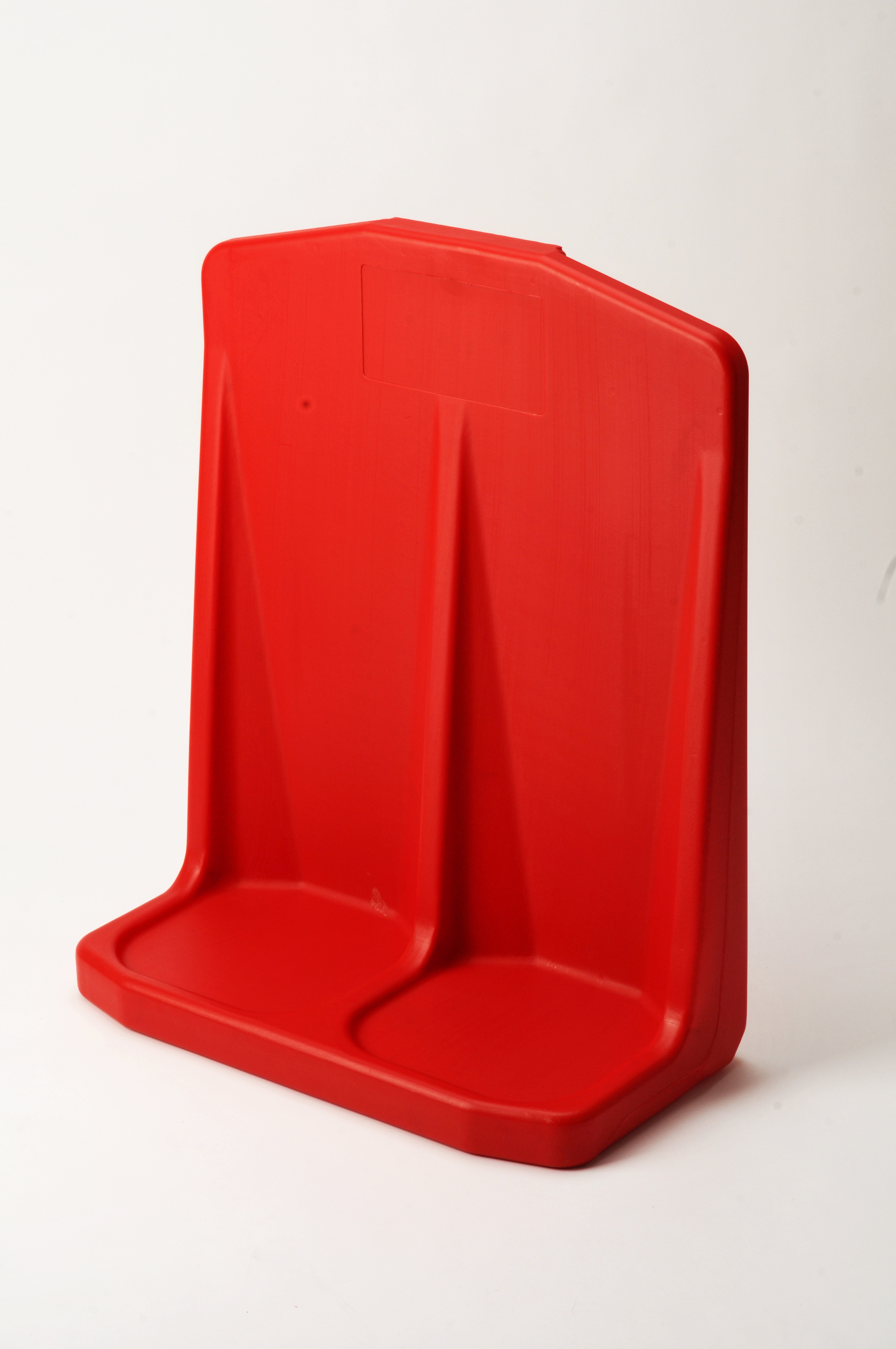 Double plastic molded fire extinguisher stand red