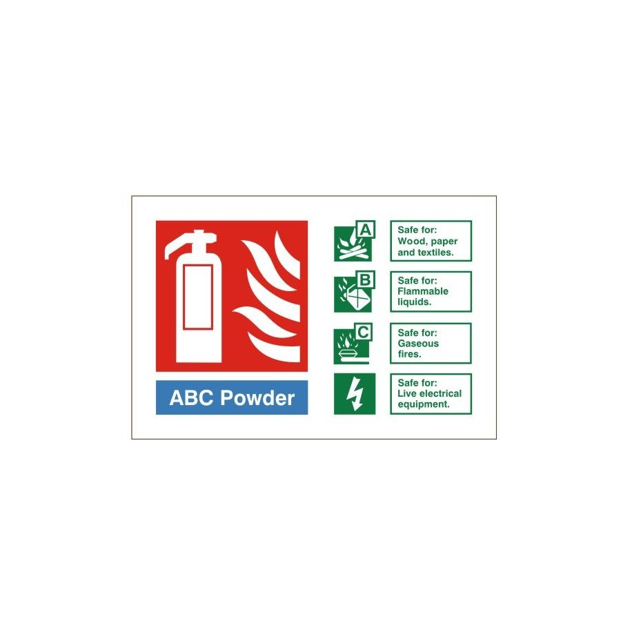 dry powder fire extinguisher signs
