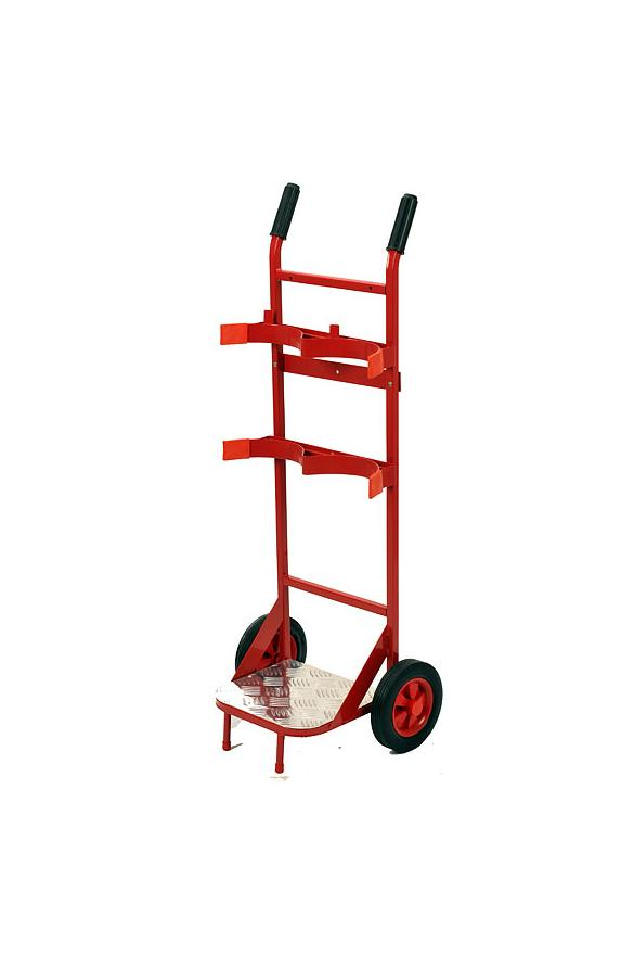 double fire extinguisher trolley for 2 x extinguishers