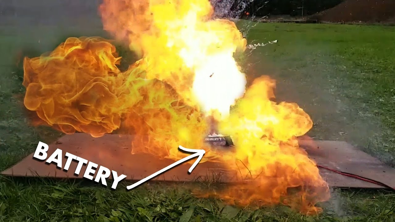 Bang A Sudden Unexpected Fire Lithium Ion Battery