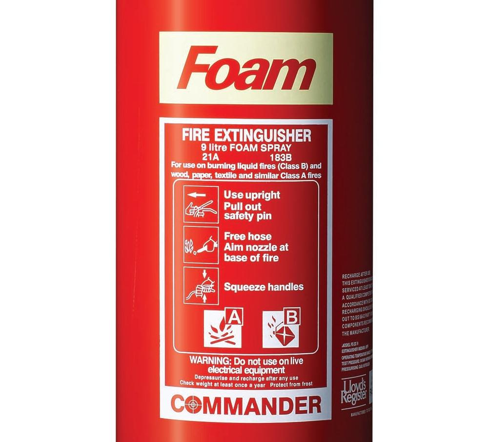 9 Litre Foam Fire Extinguisher Afff